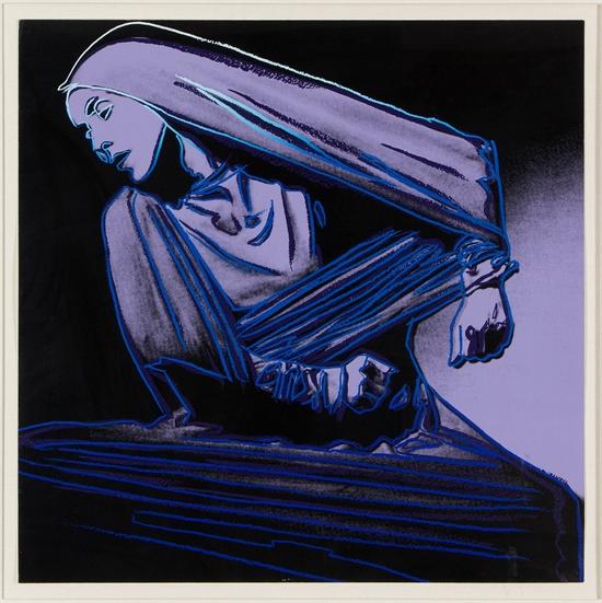 Lamentation #388 (Martha Graham) by Andy Warhol www.artnet.com