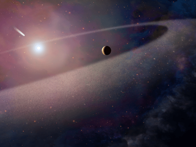 Comet-Like Object Falling Toward White Dwarf (Artist's Concept)