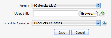 Import to an existing calendar