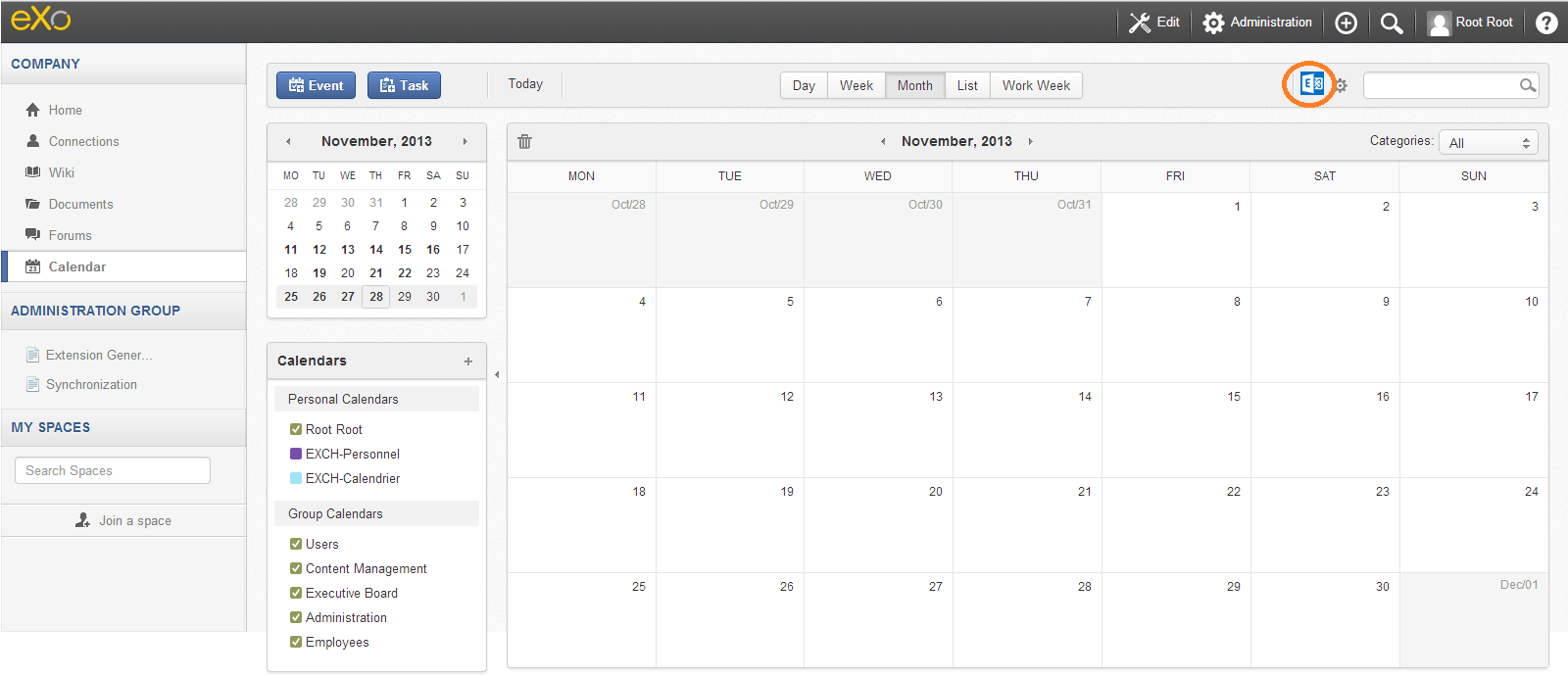 Synchronize Your Microsoft Exchange Calendars in eXo