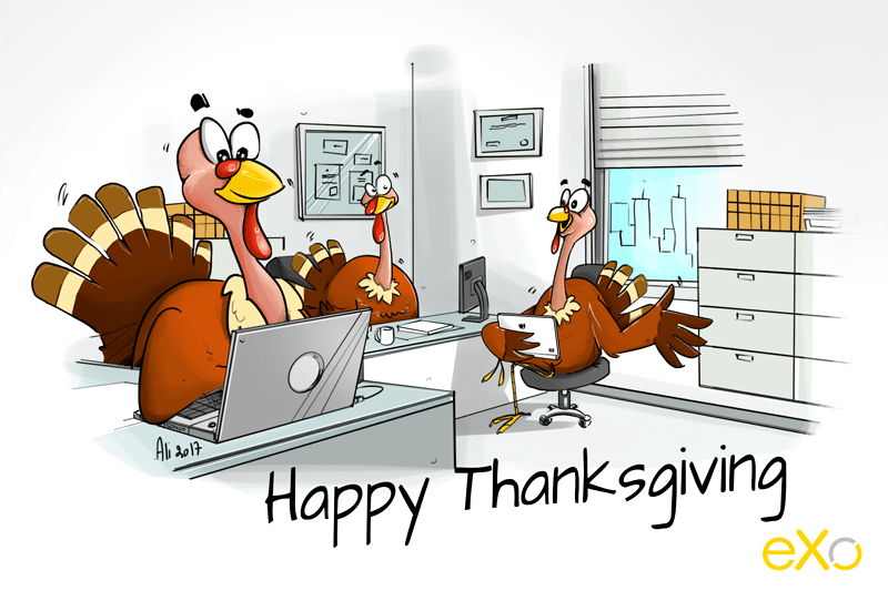 Cartoon Happy thanksgiving 2017