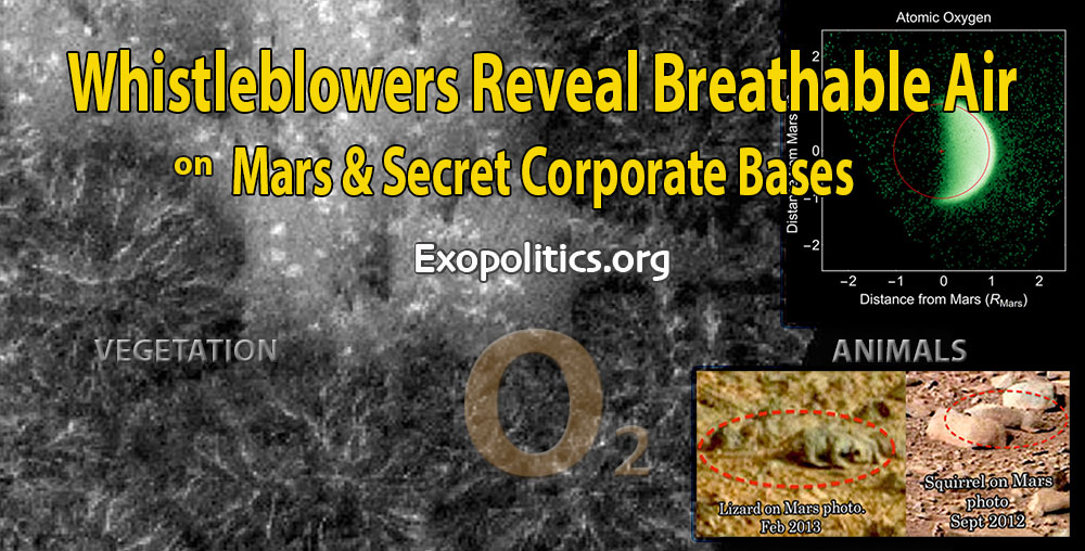 Whistleblowers reveal breathable air on Mars & secret corporate bases