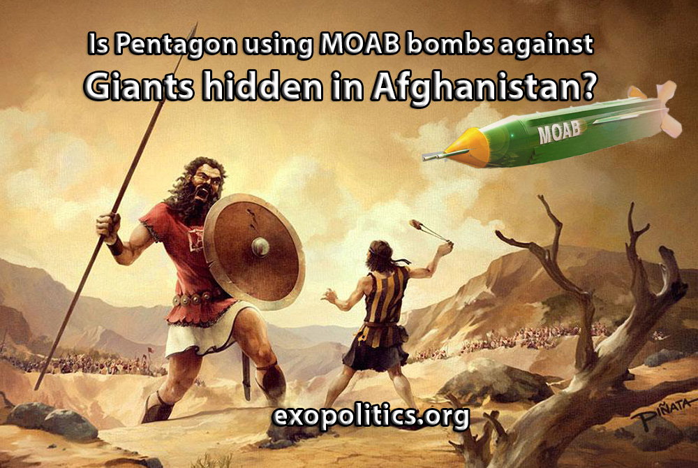 Is Pentagon using MOAB bombs against Giants hidden in
