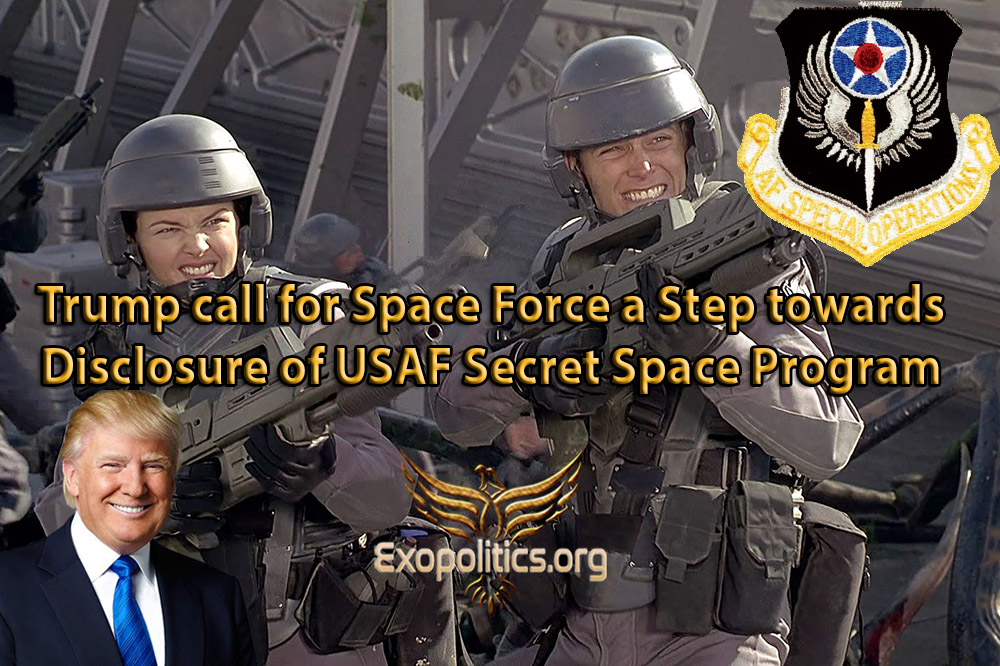 Trump call for Space Force a Step towards Disclosure of USAF Secret