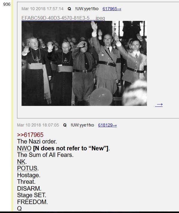 М.САЛЛА 2 МАЯ 2018г. QAnon раскрывает усилия обвинить Россию в ядерной атаке под фальшивым флагом на США -  связь с четвертым  рейхом Sum-of-All-Fears-Nazis