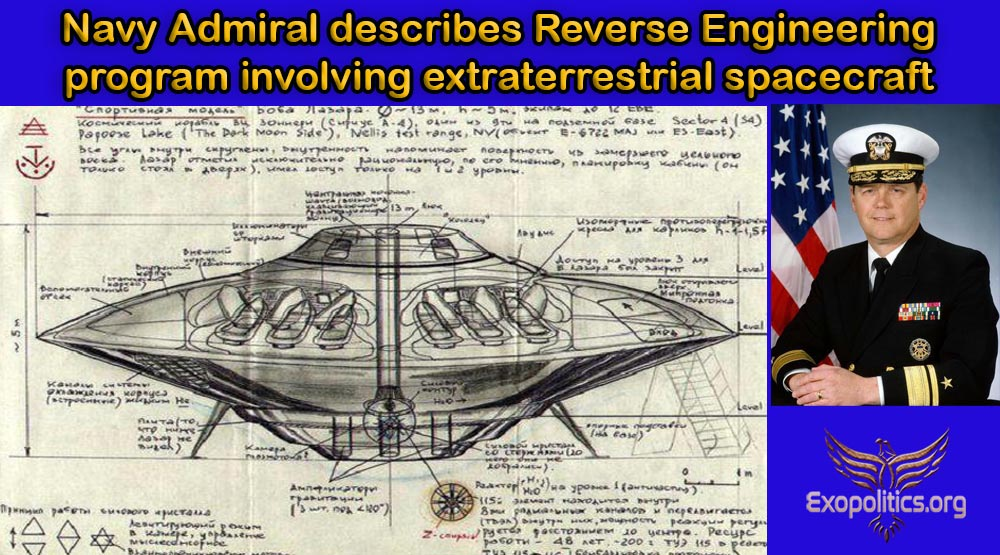 Navy Admiral describes Reverse Engineering program involving extraterrestrial spacecraft
