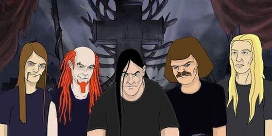 Resultado de imagem para desenhos animados de death metal
