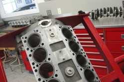 Milled engine deck