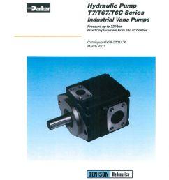 parker hydraulic pump t7 t67 t6c series industrial vane pumps catalog hy29 0001 uk [ 786 x 1024 Pixel ]