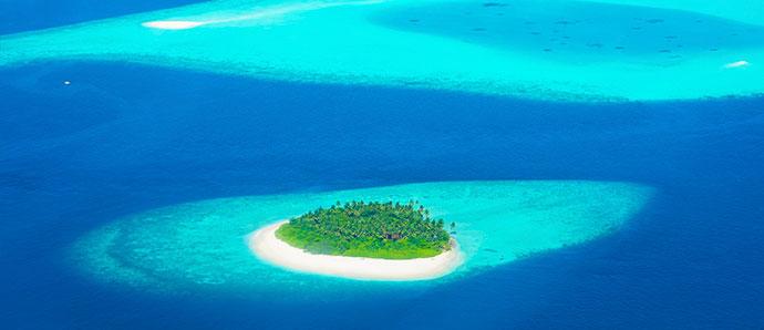 islas deshabitadas de Maldivas