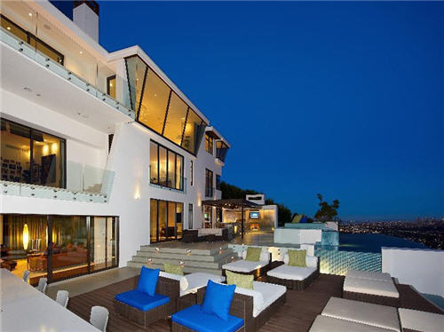 kitchen walls deco estate of the day: $18.9 million sunset strip citadel in ...