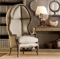 Versailles Domed Burlap-Backed Chair from Restoration Hardware