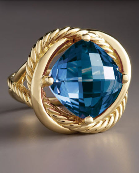 david yurman 14mm blue topaz infinity ring