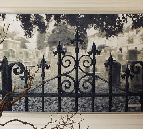 Halloween Decor: Haunted Gate Wall Mural