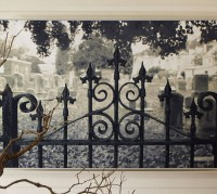 Halloween Decor: Haunted Gate Wall Mural