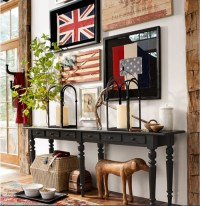Pottery Barn American Flag Wall Art