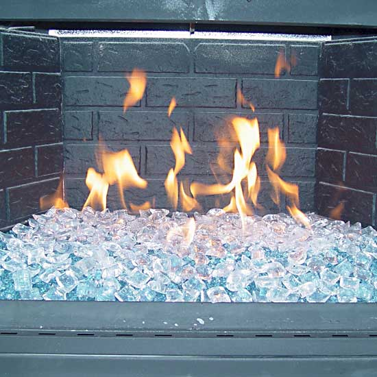 Picture gallery of converted natural gas fireglass fireplaces and outdoor fire pits