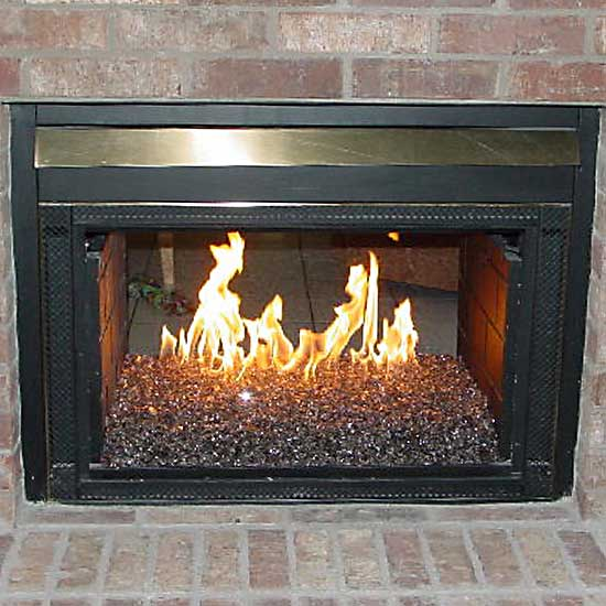 Picture gallery of converted natural gas fireglass