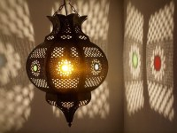 Arabian Tin Lantern: large - furniture - lighting - decor