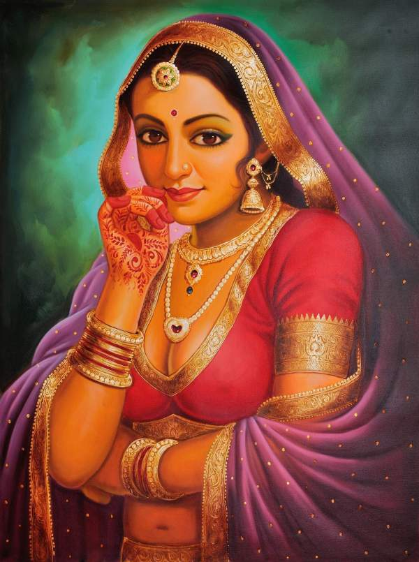 Portrait Of Rajasthani Bride