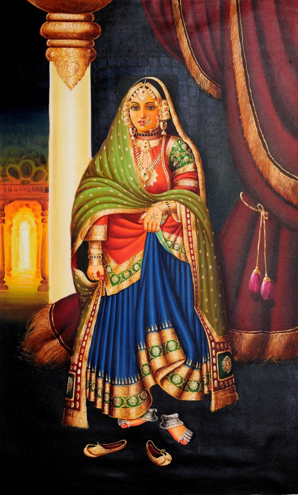 Painting of a Indian Lady