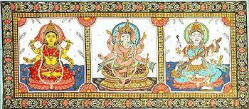 The Great Triad of Lakshmi, Ganesa and Saraswati