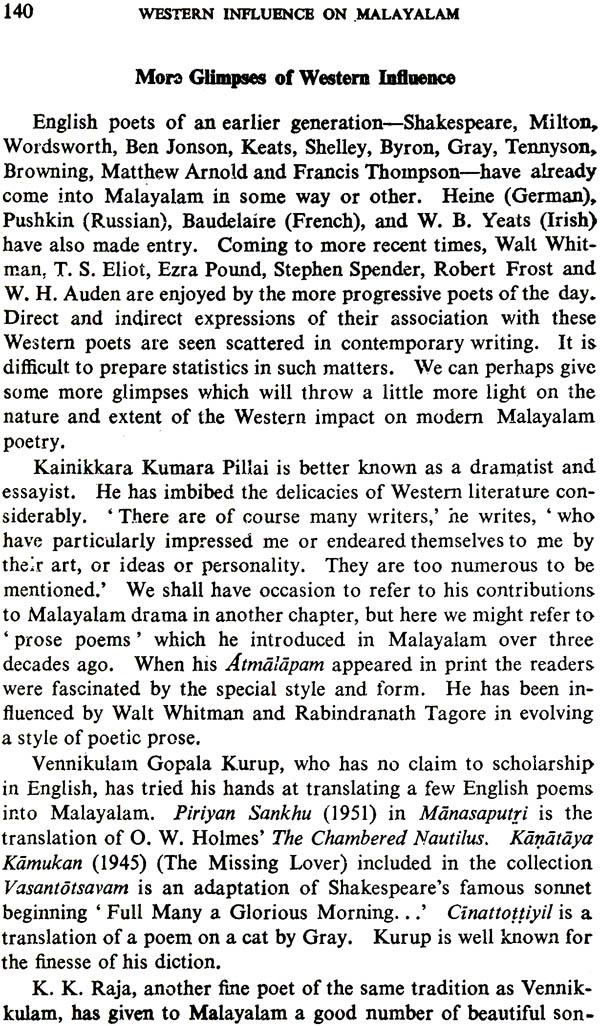 Western Influence on Malayalam Language and Literature