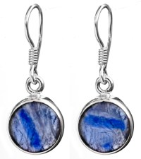 Kyanite Circular Earrings