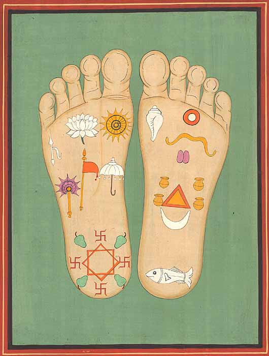 The 8 Auspicious Symbols...why on the feet?