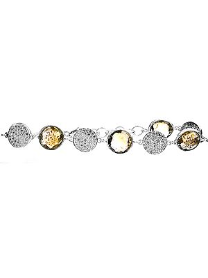 Sterling Crescent Moon and Stars Ring