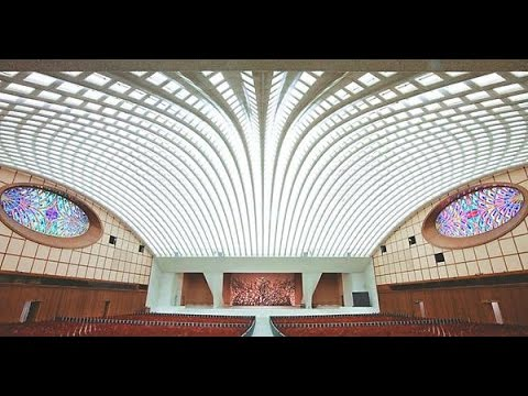 The Vatican Hall undeniably resembles the face of a snake.