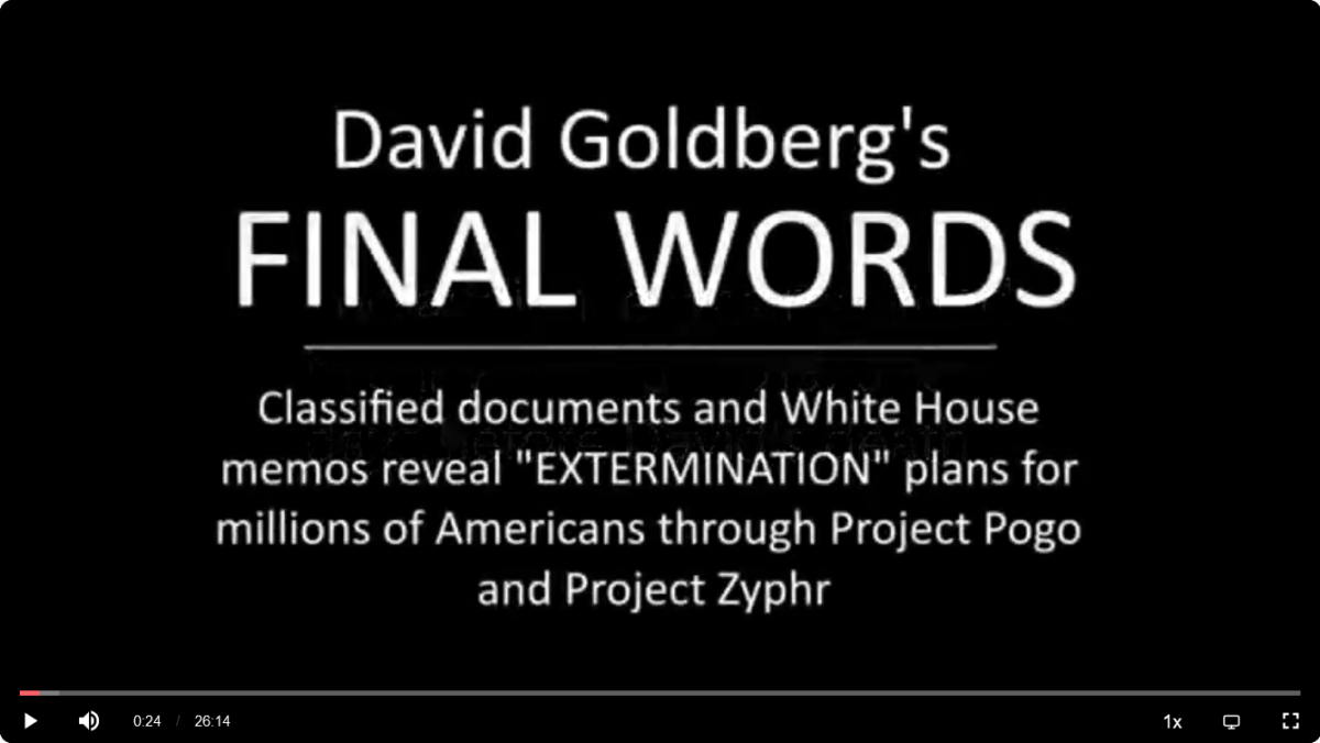 David Goldberg's FINAL WORDS: Project Pogo and Project Zyphr | Full Transcript