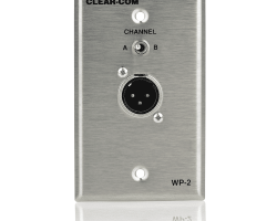 Clear-Com WP-2 Intercom Outlet Wall Plate