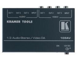 Kramer 103AV 1:3 Composite Video & Stereo Audio Distribution Amplifier
