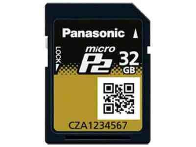 Panasonic AJ-P2M032AG 32GB MicroP2 UHS-II Compliant Professional Memory Card