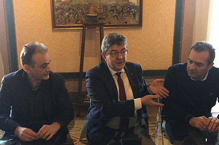 Carmine Piscopo, Jean-Luc Mélenchon e Luigi de Magistris