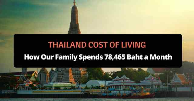 Thailand Cost of Living Family of Four