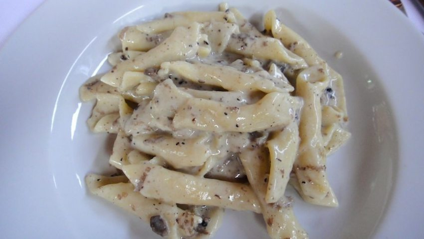 Istrian pasta with white truffles