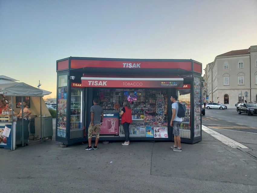 Tisak stand in Split, Croatia