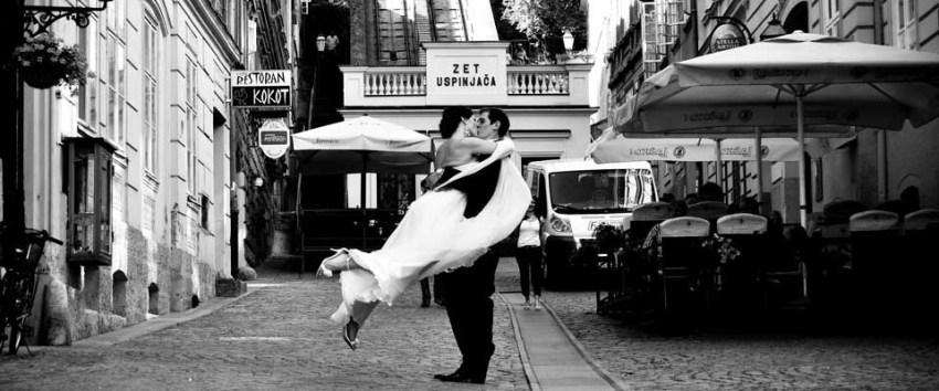 Bride and Groom in Zagreb, Croatia