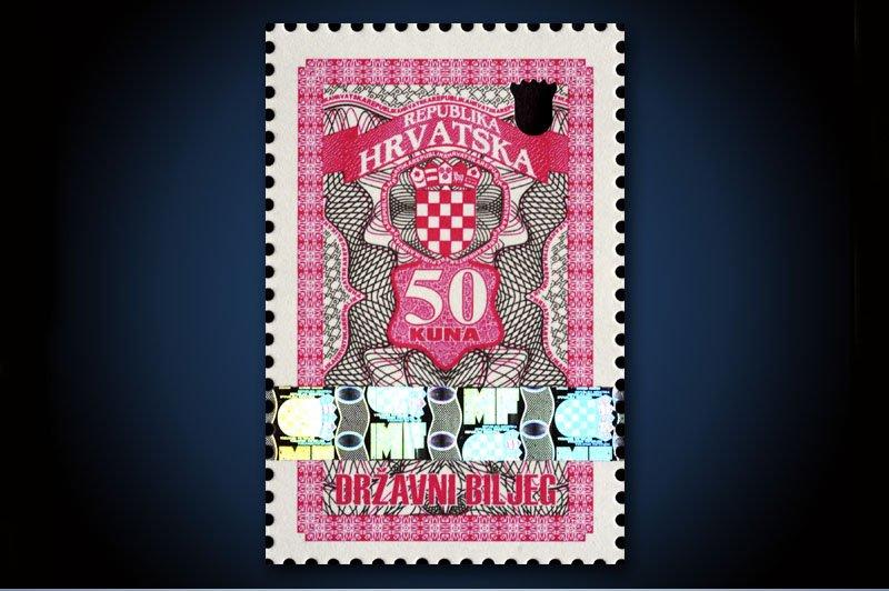 50 kuna drzavni biljezi -Croatian tax stamp