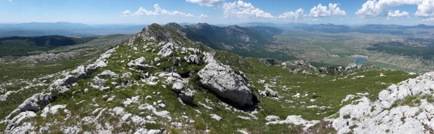 Kamešnica Peak on Via Dinarica Trail