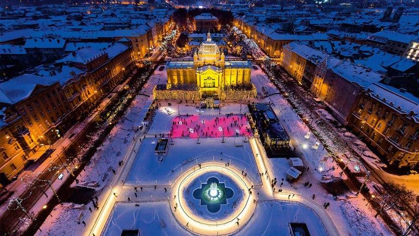Zagreb Advent ice rink