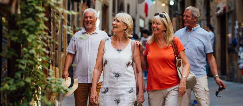 Senior travel in Croatia