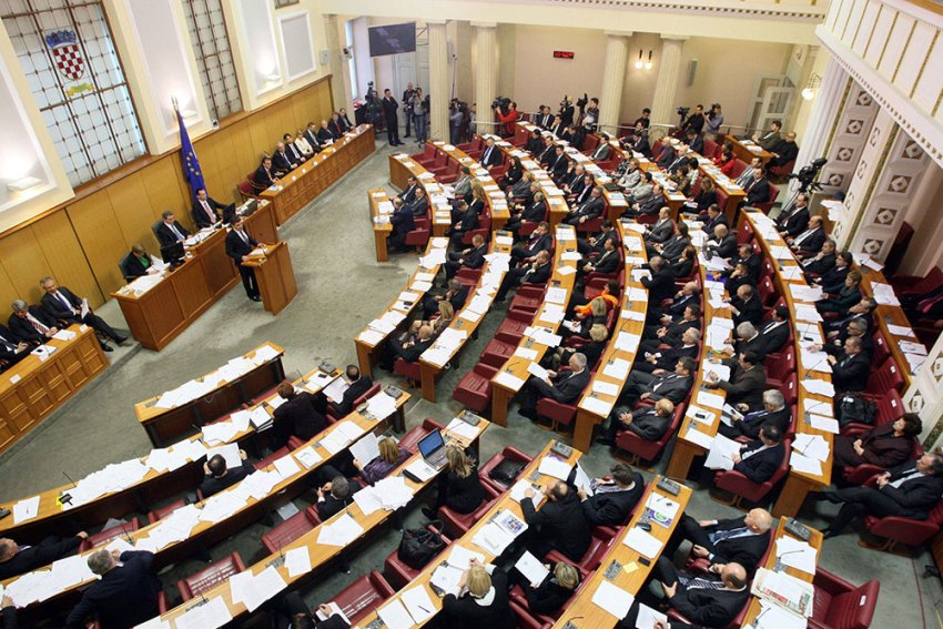 Croatian parliament making laws
