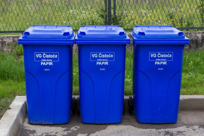 Paper recycling bin in Croatia