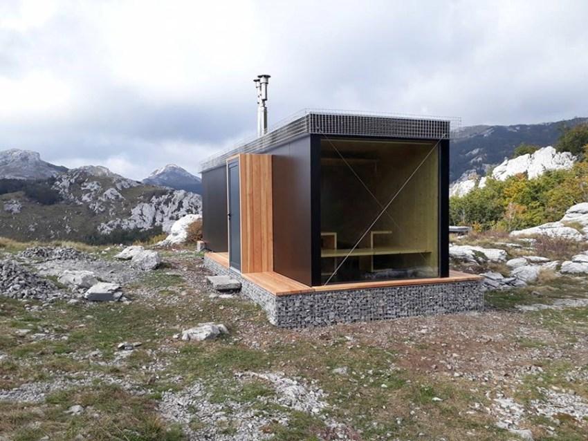 Mountain shelter Šugarska duliba in Croatia
