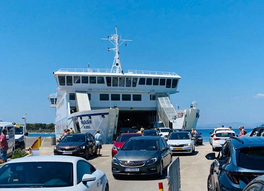 Ferry traffic in Croatia