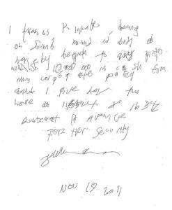 Handwritten Last Will and Testament