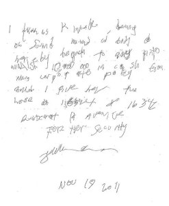 Handwritten Last Will and Testament